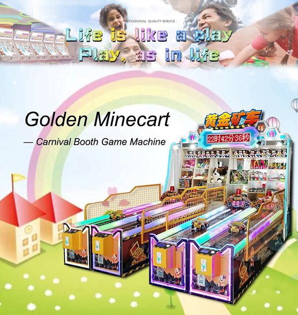 Carnival Golden Minecart arcade booth game machine