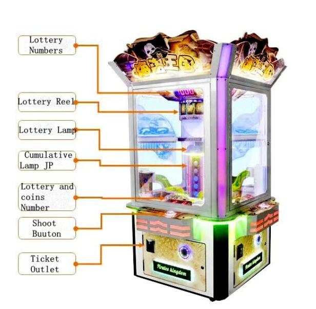 Pirate Kingdom Ticket Redemption Game Machine
